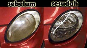 Cara Membersihkan Kaca Lampu Mobil Yang Kuning Buram